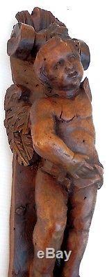XVIIIe bois sculpté, époque Louis XV Deux belles atlantes